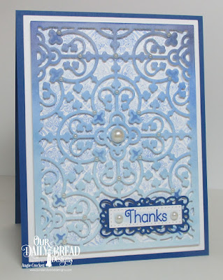 ODBD Custom Majestic Medallion Dies, ODBD Custom Filigree Frames Dies, ODBD Custom Pierced Rectangles Dies, Medallion Background, Medallion Sentiments, Card Designer Angie Crockett