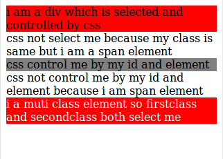 html class and id