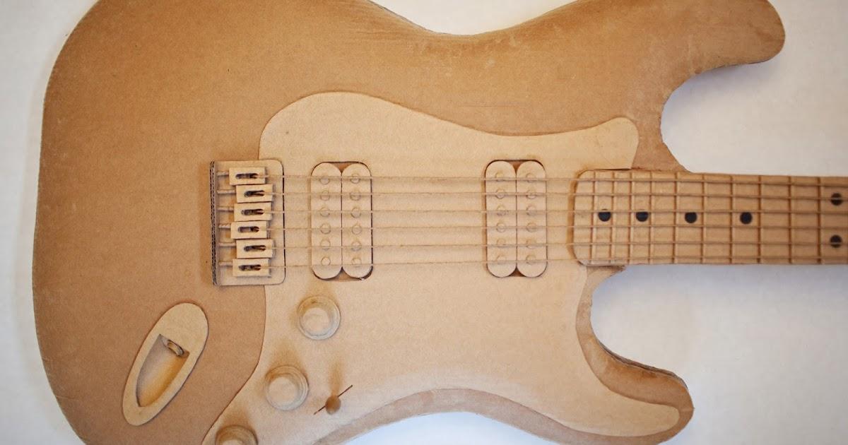 Reciclar Cartón Haciendo Una Guitarra Quiero Más Diseño