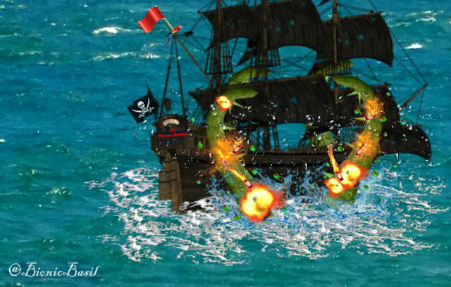 **2015 REVISITED** Tuesday Tails ~ The Extraordinary Voyages of Cap'n Basil Blackheart & His Motley Crew ~ Part VII ©BionicBasil®