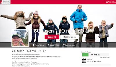 Barnekreftforeningen - Petters innsamlingsside