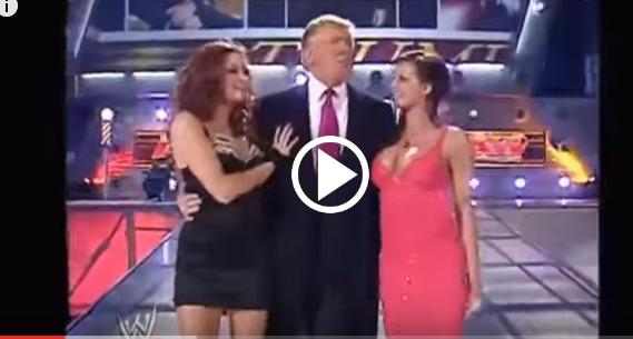 رئيس أمريكا الجديد رونالد ترامب فى المصارعة الحرة