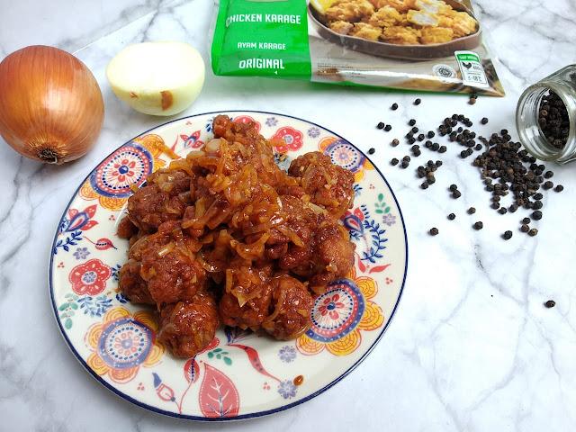resep chicken karaage saus lada hitam