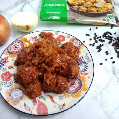 Masak Chicken Karaage Saus Lada Hitam Hanya 10 Menit!