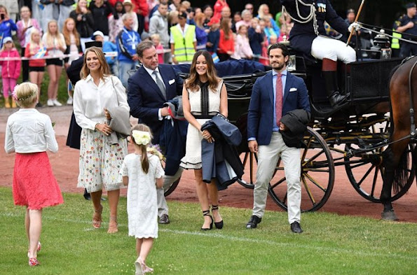Queen Silvia, Crown Princess Victoria, Princess Sofia, Prince Carl Philip, Princess Estelle, Princess Madeleine and Christopher O'Neill attend Victoria Day Celebrations 2016