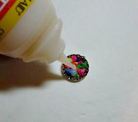 aquarium gravel earrings