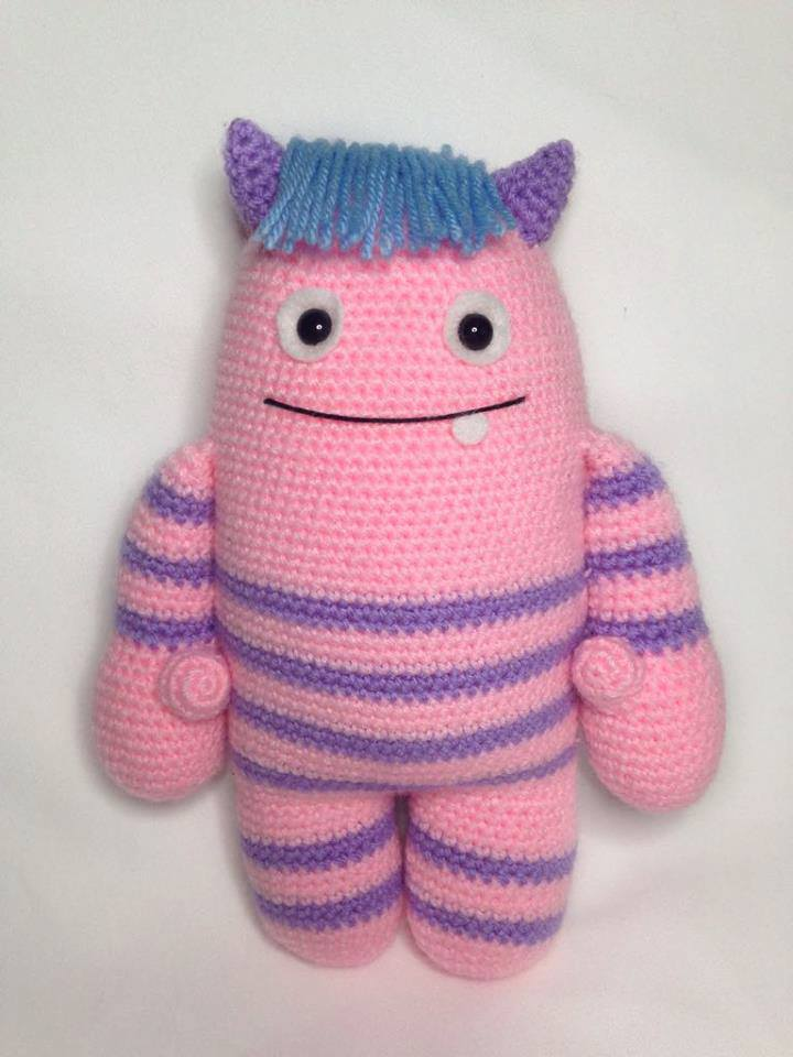 Heart Sew Mallow The Monster Free Crochet Amigurumi Pattern