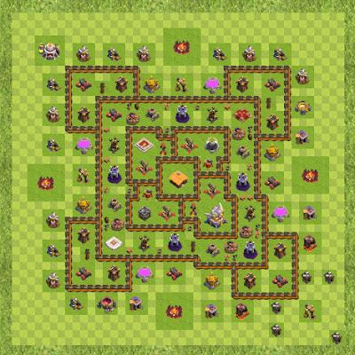 War Base Town Hall Level 11 By SUMIN KIM (SUMIN TH 11 Layout)