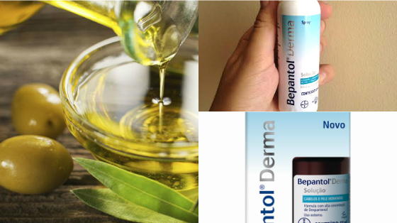 umectacao com bepantol e azeite de oliva