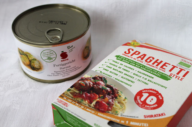 Sava Fertiggericht 'Sarma' und Slendier Konjak Spaghetti