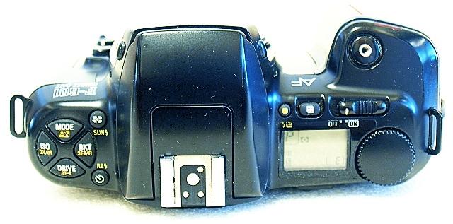 Nikon F-601, Top