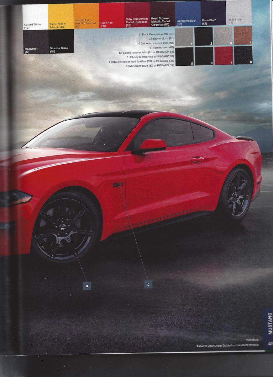 2018 Ford Mustang Order Guide Leaked, Just Don't Opt For ...