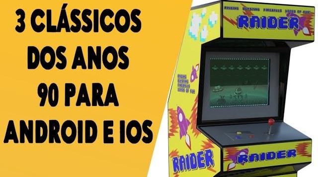 3 jogos clássicos dos fliperamas,para jogar no celular