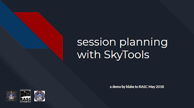 session planning with SkyTools title slide