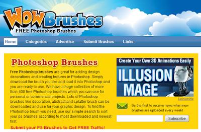 Daftar Situs Penyedia Brush untuk Photoshop GRATIS