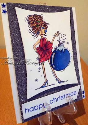 Diecut Divas, Bugaboo Stamps Christmas Ornamental Gal
