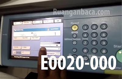 Solusi Memperbaiki E0020-000 Mesin Fotocopy Canon IR