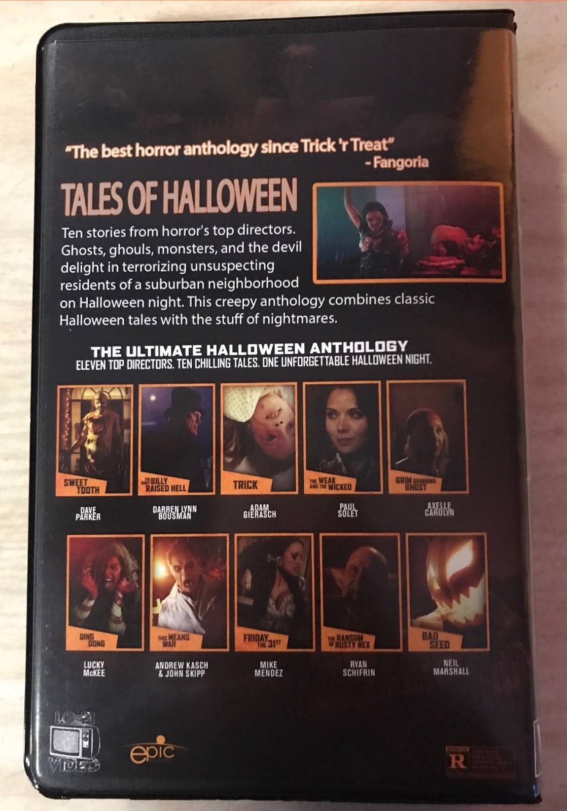 The Horrors of Halloween: TALES OF HALLOWEEN (2015) VHS, DVD and ...