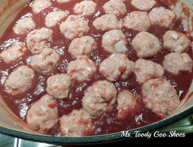 Sweet and Sour Turkey Meatballs by Ms. Toody Goo Shoes