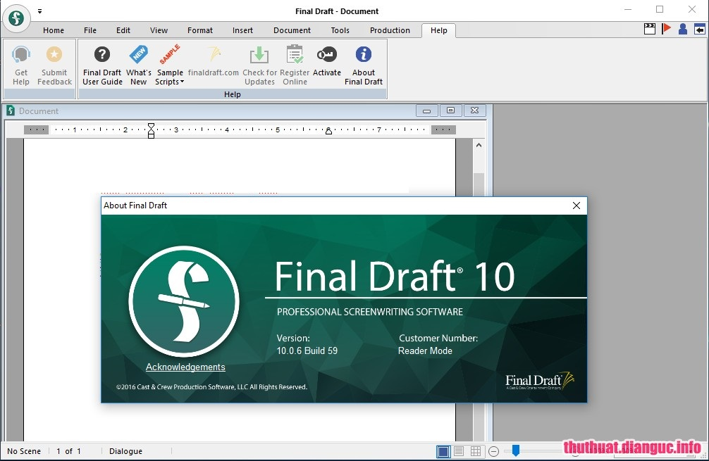 Download Final Draft 11.0.1 Build 40 Full Cr@ck