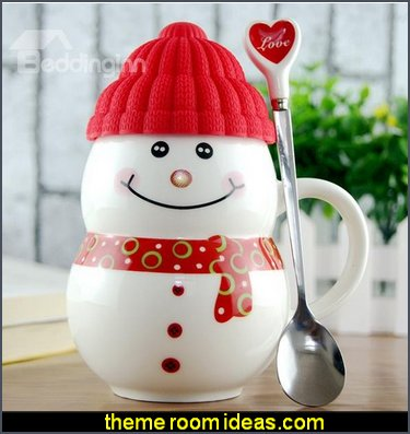 Cute Snowman Ceramic Coffee Cup kitchen accessories - fun kitchen decor - decorative themed kitchen  - novelty mugs - kitchen wall decals - kitchen wall quotes - cool stuff to buy - kitchen cupboard contact paper -  kitchen storage ideas - unique kitchen gadgets - food pillows