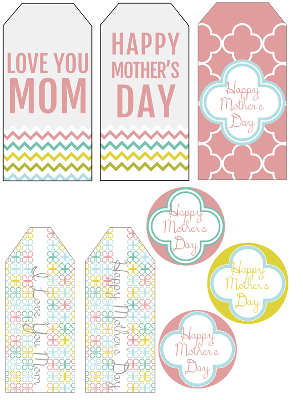 Free Printable Mother's Day Gift Tags, HandmadeintheHeartland.com