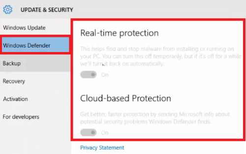 how to disable windows defender windows 10 home