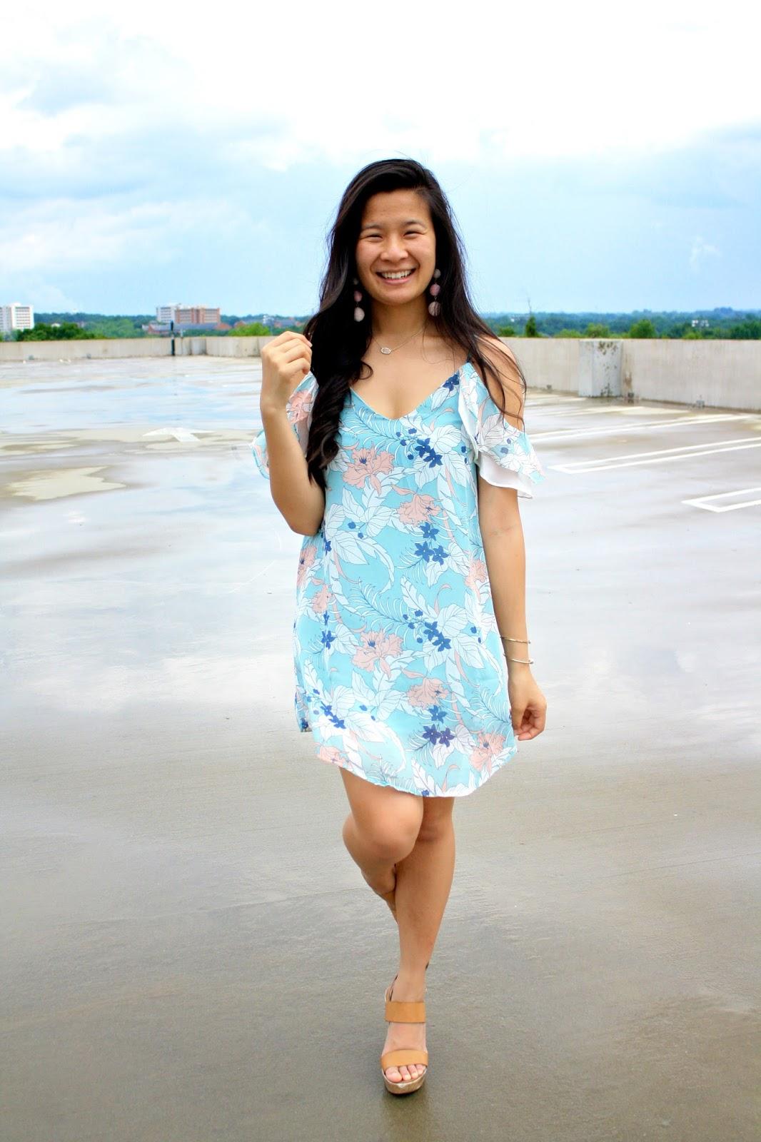 Spring pastel dress
