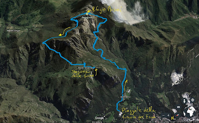 Route from Lecco funivia to Rifugio Azzoni on Resegone and back.
