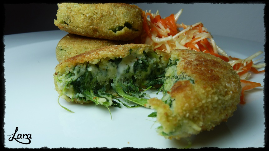 http://cucinaconlara.blogspot.it/2014/05/polpette-di-patate-e-spinaci-veg.html