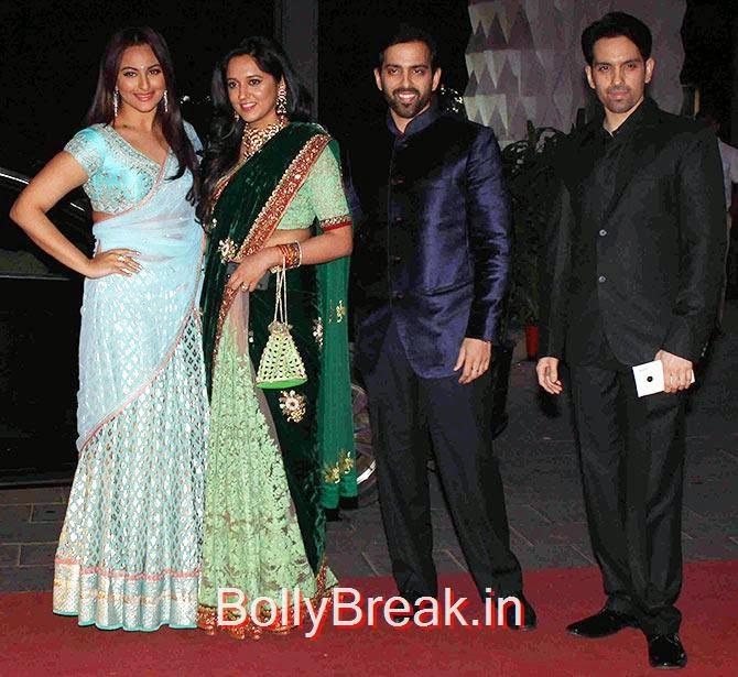 Sonakshi Sinha, Taruna Agarwal, Kush, Luv Sinha, Tulsi Kumar Wedding Reception Photo Gallery 2015