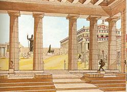 Representación de los Propileos de la Acrópolis