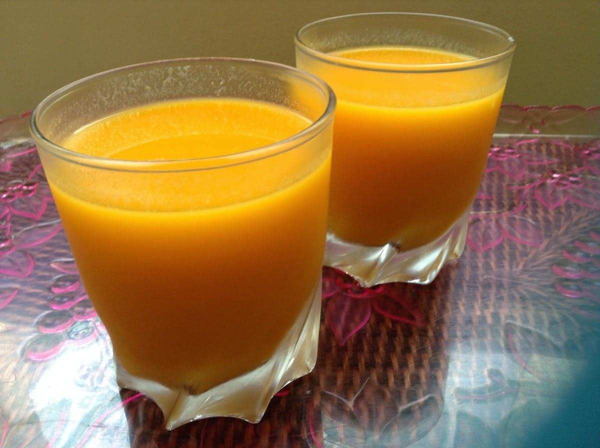 عصير البرتقال والجزر والزنجبيل