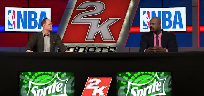 NBA 2K15 'Yakkem' Trailer Gameplay Screenshot - Ernie Johnson and Shaquille O'Neal
