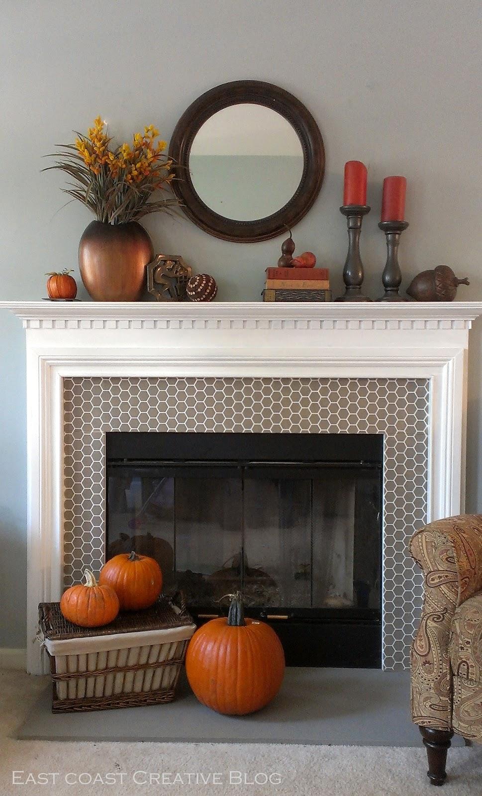 Fall Fireplace Mantel Decorating Ideas: A Fall Mantel: 2 Ways {Mantle}