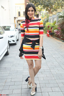 Adha Sharma in a Cute Colorful Jumpsuit Styled By Manasi Aggarwal Promoting movie Commando 2 (21).JPG