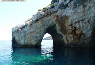 Las Cuevas Azules o Galazia Spilaia de la Isla de Zante.