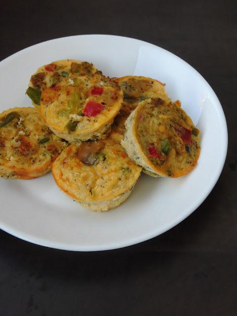 Mini Vegetable Quiche, Crustless Quiche