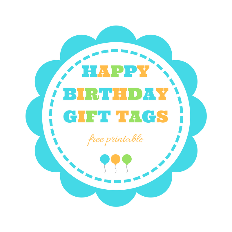 image about Birthday Tag Printable named Content Birthday present tags - no cost printable Maintaining it Correct