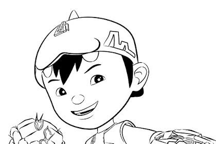 Gambar Mewarnai Kartun Boboiboy