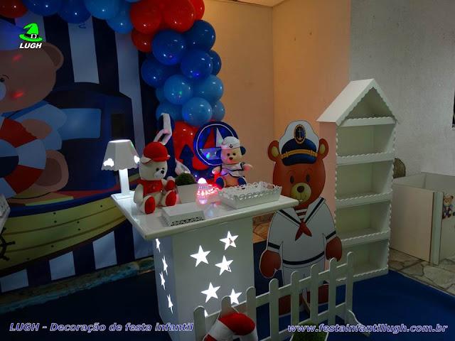 Mesa provençal infantil Ursinho  Marinheiro - Aniversário