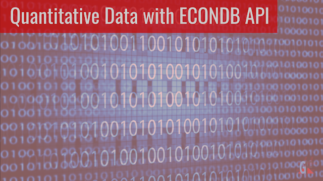 Econdb.com API | Quantitative Data of Economic Indicators and Stock Market Data for Quantitative Research | MS Excel, R, Python for API