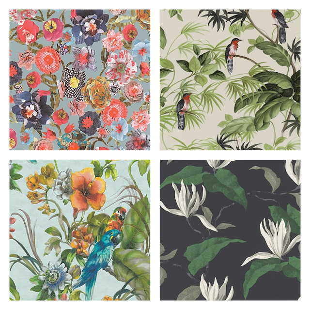 odważne wzory tapet, tapety kwiatowe, tapety egzotyczne, tapeta w kwiaty