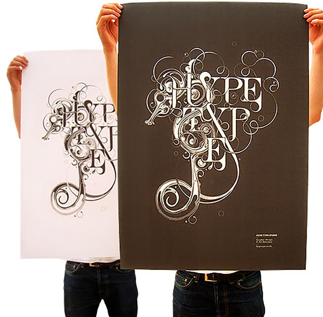 Hype Type Studio and Si Scott Posters