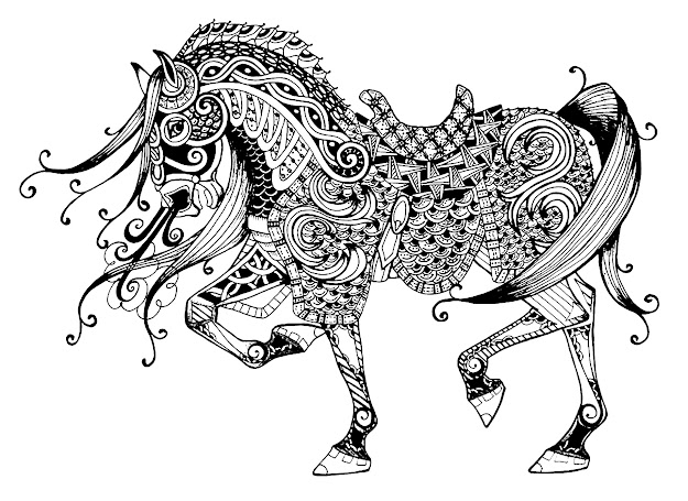 Coloringpagemajestichorse Free To Print