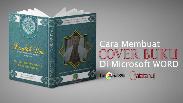 Cara mudah membuat cover buku di Microsoft word + video