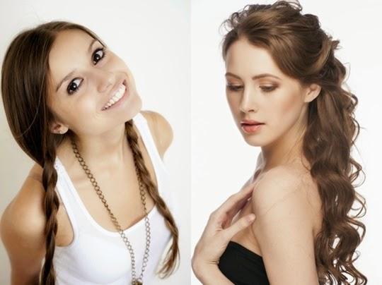 cantik dengan berbagai gaya rambut