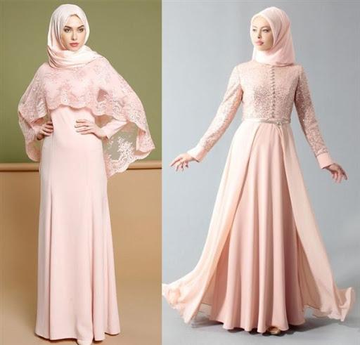 Model Baju Muslim Kondangan Terbaru - Voal Motif