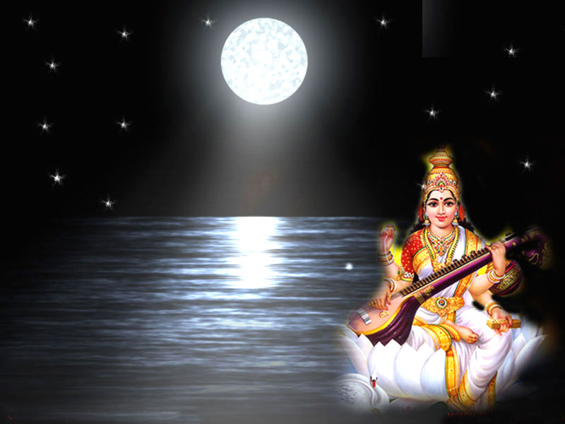 Maa Saraswati 3d Wallpaper 2013 Saraswati Hd Wallpaper God Wallpaper Hd