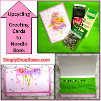 Upcycling Greeting Cards into needle books